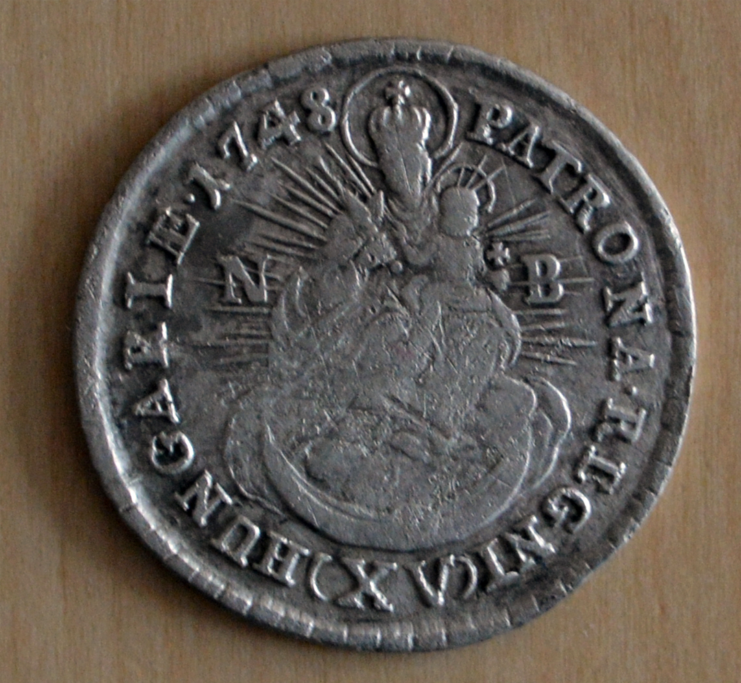 Picayune of value 15, dated 1748