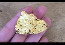 3.8oz MONSTER GOLD NUGGET Metal Detecting VIC with GPZ7000